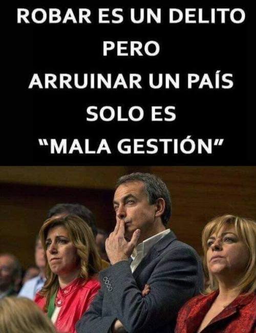 Representan la cara y el trasero del PSOE, así como la vergüenza para España.