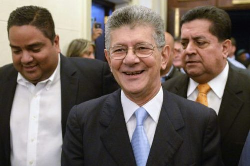Ramos Allup, presidente de la Asamblea Nacional venezolana.