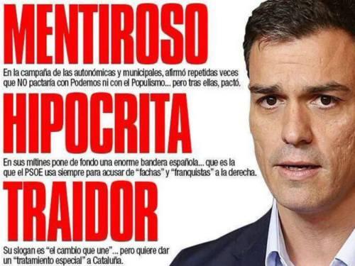 Pedro Sánchez, dañino líder socialista del estilo de ZParo.
