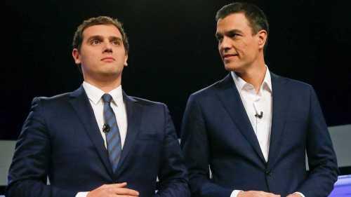 Alberto Rivera y Pedro Sánchez, dos caras de la misma moneda.
