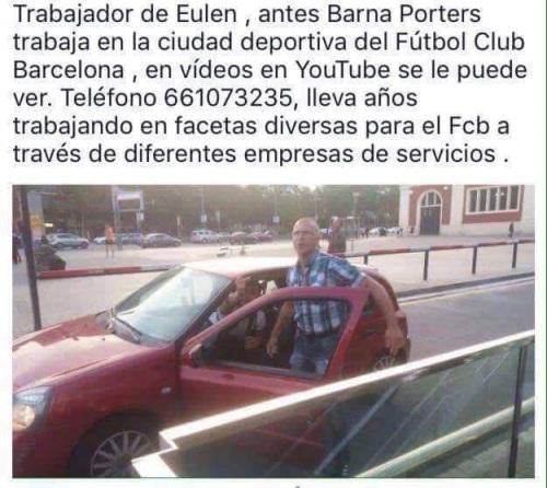Fotografía robada en Facebook, donde aparece uno de los energúmenos que atentaron contra las dos trabajadoras en Barcelona. Alguna asociación lo ha puesto en búsqueda y captura.