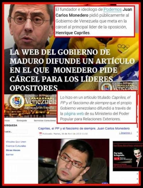Juan Carlos Monedero, prototipo de político corrupto antes de tocar poder.