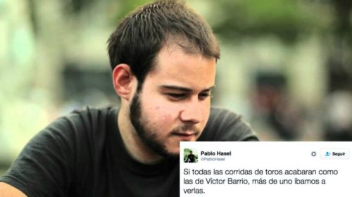 Pablo Hasél, uno de los despreciables podemitas que más se han mofado del fallecimiento de Víctor Barrio y de toda su familia.