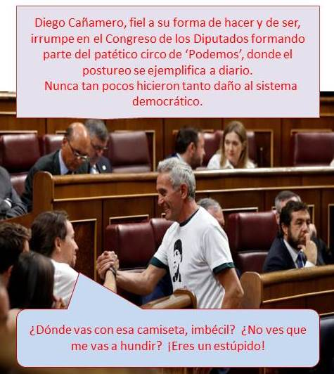 Diego Cañamero, sindicalista andaluz para hacer reír en el Congreso.