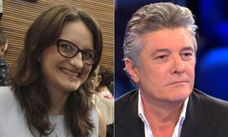 Mónica Oltra, vicepresidenta del Gobierno valenciano, y Francisco, cantante.