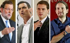Líderes políticos incapaces de ponerse de acuerdo en España.