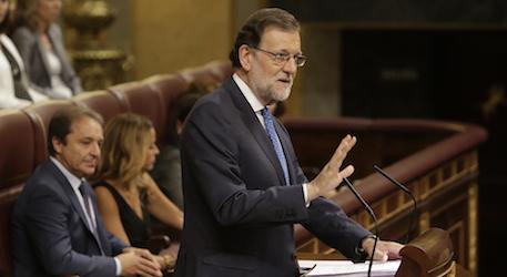 Mariano Rajoy en su fallida investidura.