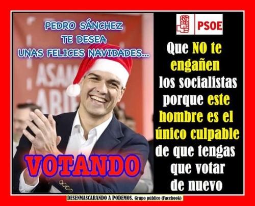 Pedro Sánchez, líder socialista y culpable principal de que pueda haberterceras elecciones.