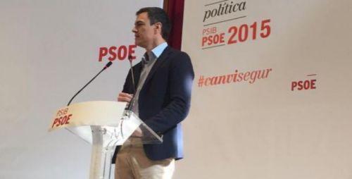 """Pedro Sánchez, líder del destrozado PSOE, apodado como """"señor NO""""."""