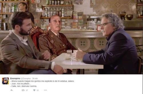 Tardá y Rufián en 'graciosa' charla con el General Franco.