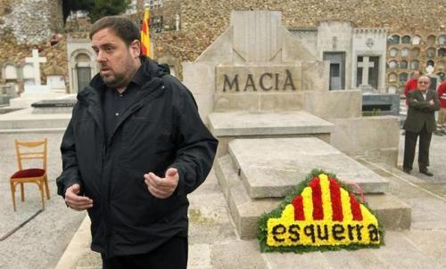 Oriol Junqueras, líder de los despropósitos secesionistas de Cataluña.