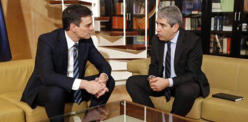 Pedro Sánchez y Francesc Homs: el primero, principal traidor al PSOE y a España; el segundo, auténtico tahur para evitar prisión por saltarse la Constitución en Cataluña.