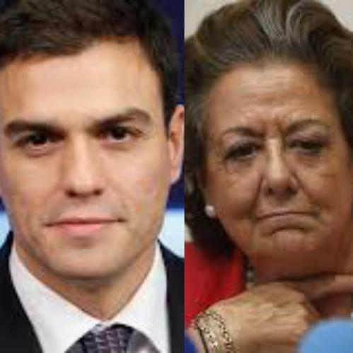 Pedro Sánchez y Rita Barberá