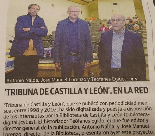 Momento de la presentación digital de Tribuna de Castilla y León.