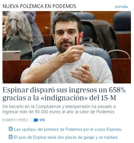 """Ramón Espinar, más conocido como """"niño-pijo black"""", en una de sus comparecencias para engañar y engatusar a los medios."""