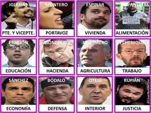 Cutre y esperpéntico Gobierno al que nos hubieran condenado el tal 'Pedroflauta' Sánchez. y señora.