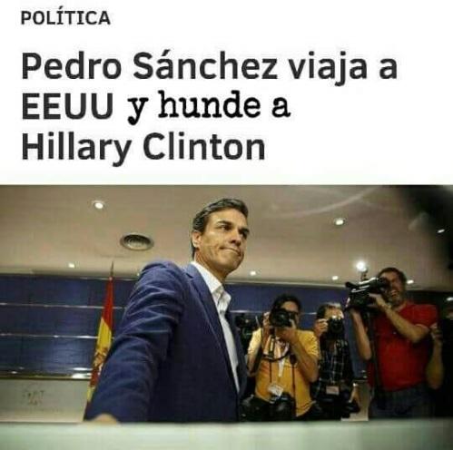 'Pedro flauta' Sánchez, el aspirante a presidente que traicionó y defraudó a media España y parte de la otra media.