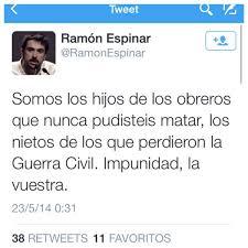 Twit del corrupto, Ramón Espi9nar, mintiendo a la población. Su fraude a Hacienda le va a costar caro. ¡Dimisión!