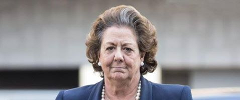Rita Barberá, exalcaldesa de Valencia. Política perseguida y difamada por Compro,ís, el PSOE y la manada podemita.
