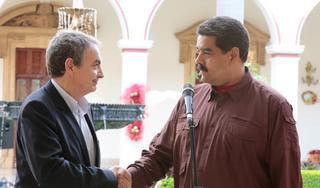 Rodríguez Zapatero y Nicolás Maduro, dos malas patas para un peor banco.