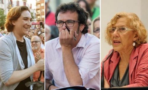 """Ada Colau, """"El Kichi"""" y Carmena, tres alcaldes para destrozar y endeudar a tres grandes ayuntamientos."""