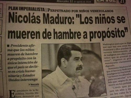 El odio de Nicolás Maduro hacia el pueblo venezolano se pone de manifiesto en sus propias declaraciones.