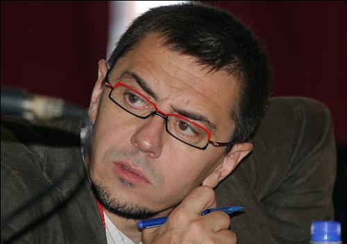 Juan Carlos Monedero, presunto politólogo y asesor del exdictador bolivariano, Chávez.