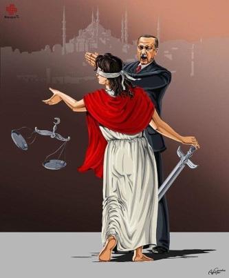 Alegoría del maltrato a la Justicia.