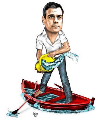 Caricatura de exsecretario general del PSOE.