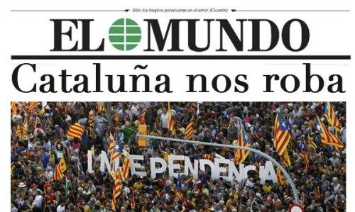 Cataluña roba a España, a los españoles y maltrata el principio de solidaridad nacional.