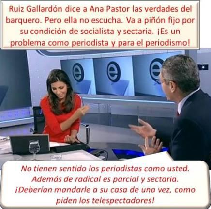 Alberto Ruiz Gallardón con la periodista, Ana Pastor.