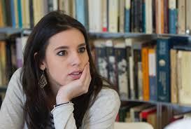 Irene Montero, diputada y barragana de Pablo Iglesias, ahora conocida como 'la machirula'.
