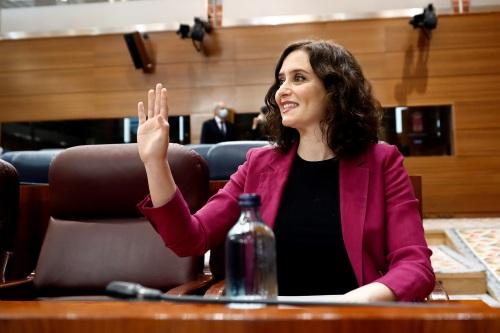 Sesión de control en la Asamblea de Madrid
